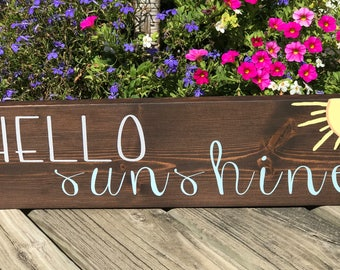 Hello Sunshine Wooden Wall Hanging