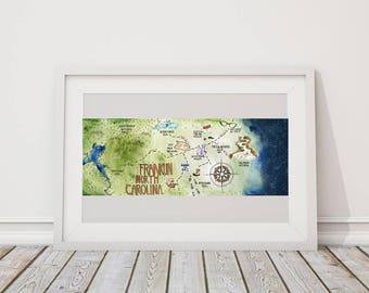 Franklin N.C. Map