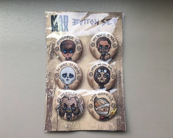 "MAD MAX Fury Road 6 piece 1 1/2"" button set"