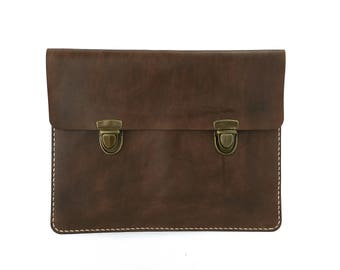 Leather Clutch (Dark Brown)