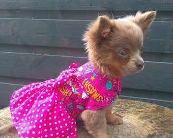 Dog Clothes - Chihuahua Clothes - Chihuahua Dress - Dog Dress - Small Dog Clothes - Harness Coat - Chihuahua - Dog Outfit - Comic Book