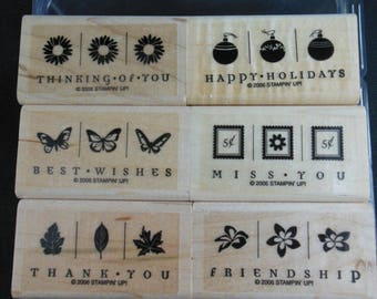 Take Three Retired Stampin' Up set of 6