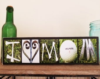 I Love Mom Golf Sign Gold Decor Golf Gifts For Women Golf Gift Mothers Day Gift For Golfers Gift For Mom Personalized Gift Sports Mom Gifts