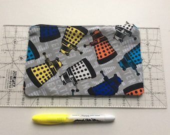 Exterminate! Doctor Who pencil case/ make up bag