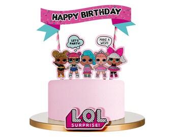 LOL Surprise Doll Inspired Cake Topper