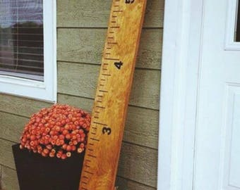 Wooden growth chart curved rules height growth ruler kids room decor