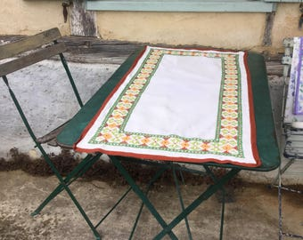 Embroidered  French Tablecloth - Vintage 1960s