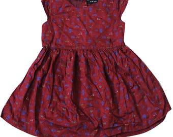 Indian Tunic Dress Kids Wear 100% Cotton Fabric Knee Length Dress Frock Evening Wear Girls Top Tunic Gift For Princess