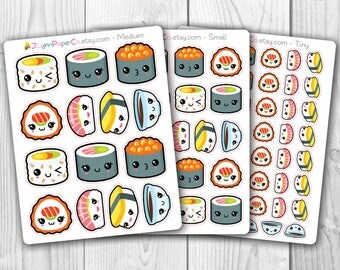 Kawaii Sushi Stickers AV005