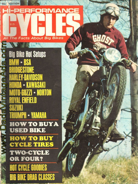 1970 Hi-Performance Cycles Motorcycle Magazine Back-Issue #mb737