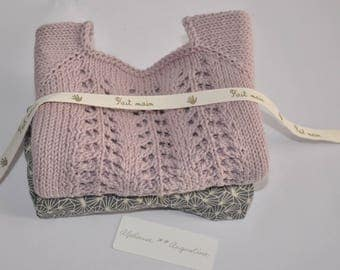 LILAC - Cotton sweater organic short sleeve 3 month