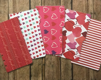 PERSONAL Dividers: Valentine's Day Themed Planning, Organizing - for Filofax, Franklin Covey, Kate Spade, Medium Kikki K, Day Planner, etc