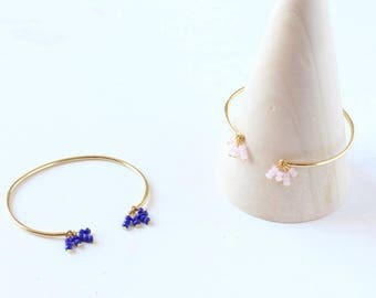 Constellation Bangle Bracelet - Faceted beads