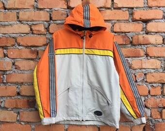 Vintage Rare ADIDAS side stripe multicolur jacket