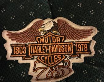 Vintage Harley Davidson 75th anniversary patch