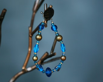 luscious blue and brass