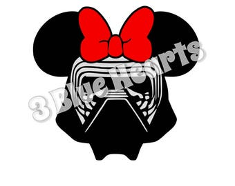 Kylo Ren with Bow svg studio dxf pdf jpg png