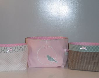 All 3 baskets range all or dusty Rose, sea green and Taupe baskets