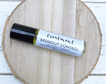 Breakout Control Spot Treatment // Acne Spot Treatment // Organic Skin Care / Essential Oil / Acne / Natural Acne Clearing / Acne Treatment