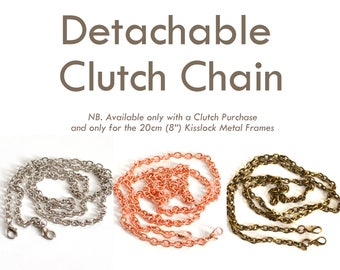 "Detachable Chain for 20cm (8"") Kisslock Metal Frame Clutch"