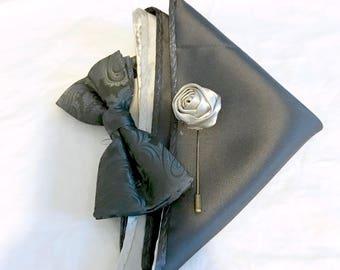 Grey Nights bow tie set.