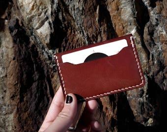 Leather cardholder, BROWN | Leather Card wallet | Slim leather wallet