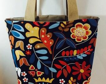 Large cotton tote bag or tote bag