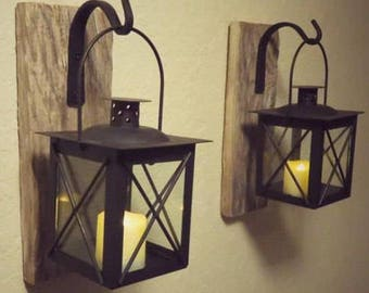 Lantern 2, Lanterns, Home Decor, Candle Holder, Rustic Home Decor, Nautical Decor, Nautical Wall Decor, Bathroom Decor, Bathroom Wall Decor