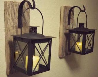 Lantern 2, Lanterns, Home Decor, Candle Holder, Rustic Home Decor, Nautical Decor, Nautical Wall Decor, Bathroom Decor, Bathroom Wall Decor
