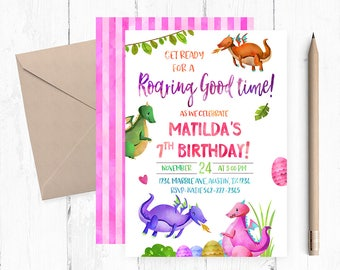 Dragon Invitation, Dragon Birthday invitations, Dragon Birthday party, Dragon themed invitations, Dragon invites,