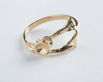 Parthenope 8ct gold ring