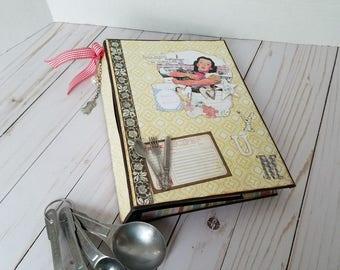 Handmade retro scrapbook recipe album