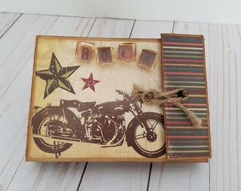 Rock vintage handmade scrapbook mini album