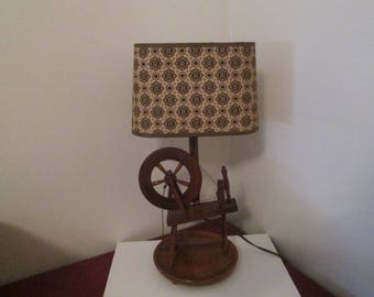 Spinning Wheel Lamp Etsy