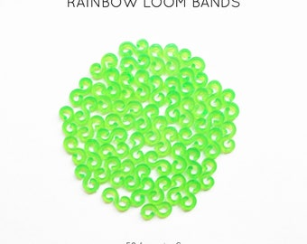 50 lobster S green neon rainbow loom bands