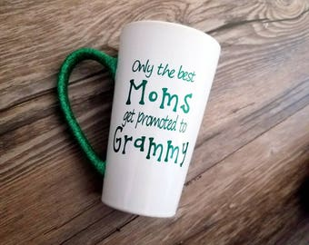 Promoted to grandma, Pregnancy announcement, baby announcement, grandma gift, grandma mug, nana mug, Grammy mug, Christmas gift