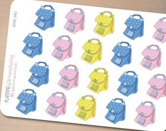 School Bags Planner Stickers Perfect for Erin Condren, Kikki K, Filofax and all other Planners