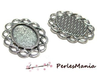 2 oval TRACERY ref 35 antique silver pendants