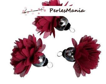 Pax: 3 tassels passementiere S1185198 wine red ballerina charm