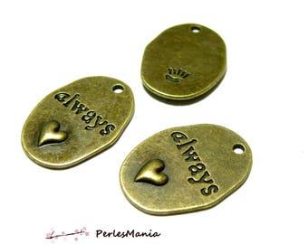 2 pendants Bronze Love always P047 hobby supplies