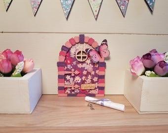 Fairy Door Purple Blossom Set Handmade