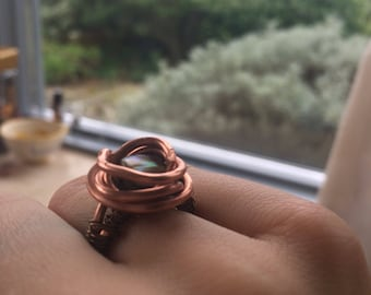 Abalone Emotional Balance Ring