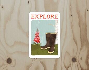 Explore w/ Fireweed Vinyl Sticker
