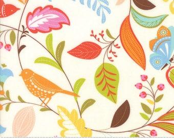 """Moda """"Wing & Leaf"""" by Gina Martin ~ Birds ~ Cloud 10060 11 ~ By The Half Yard ~"""