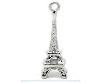Set of 4 eiffel tower charms zinc alloy