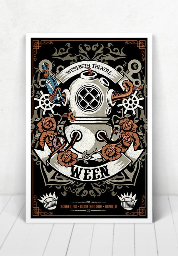 Ween Concert Poster - Illustration [Ween / Westbeth Theatre Centre New York, NY - Dec 31, 1998]