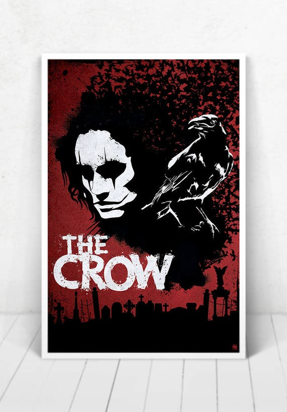 The Crow Illustration Movie Poster / The Crow Movie Poster / The Crow Orange / Movie Poster / Brandon Lee
