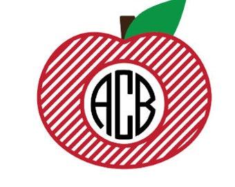 Apple Monogram - Apple Decal - Apple Monogram Decal - Laptop Decal - Mac Book Decal