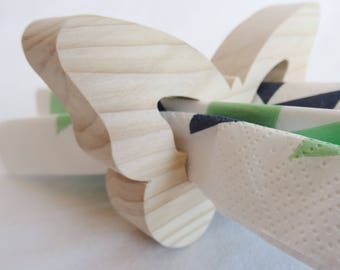 """CIRCLE of NAPKINS in natural wood, spruce, multi-bois, douglas or natural Robinia """"Rabbit"""", table decoration for any event (wedding"""