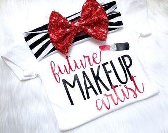 Future Makeup Artist, Makeup Artist like mommy, newborn, Glam, mamas mini, makeup